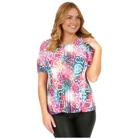 Jeannie Plissee-Shirt 'Motril' multicolor