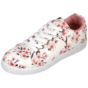 Damen-Sneaker Kirschblüten weiß