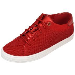 Damen-Sneaker Strick rot