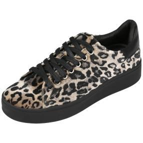Damen-Sneaker Animalprint schwarz
