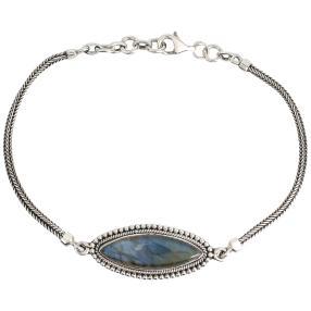 Armband 925 Sterling Silber Labradorit
