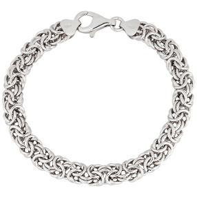 Königsarmband 925 Sterling Silber ca. 19 cm