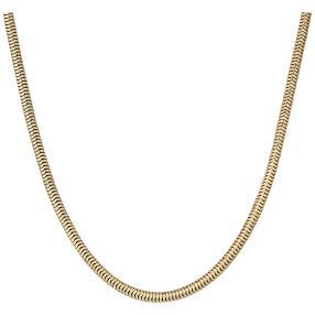Schlangenkette 925 Silber, vergoldet, ca. 45 cm