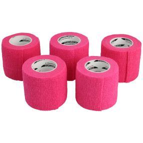 selbsthaftende elastisches Pflaster pink 5er Set