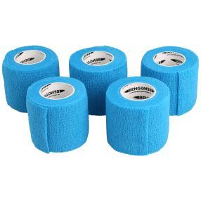 selbsthaftende elastische Pflaster blau 5er Set
