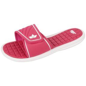 LICO Damen Badeslipper Maledieven pink weiß