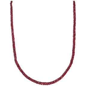 Collier 925 St. Silber verg. Rubin/Smaragd/Saphir
