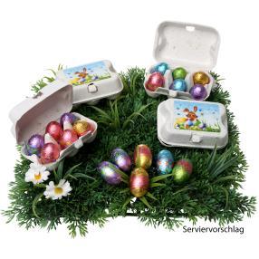 Ostereier im Eierkarton 5erSet