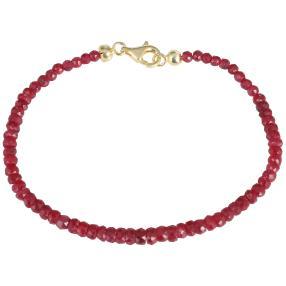 Armband 925 vergoldet Rubin