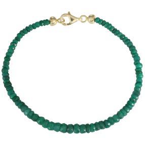 Armband 925 vergoldet Smaragd