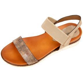 Claudia Ghizzani Damen Sandalen bronze Elastik
