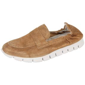 POST XCHANGE Damen-Lederslipper camel Light Weight
