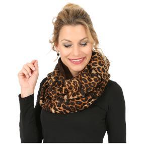 Loop-Schal Leopard braun