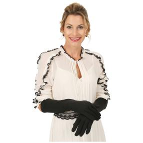 Damen-Handschuhe extralang schwarz onesize