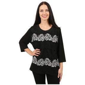 Damen-Shirt 'Mariella' schwarz/weiß