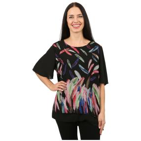 Damen-Blusenshirt 'Giada' doppellagig multicolor