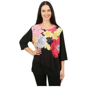 Damen-Blusenshirt 'Chiara' doppellagig multicolor