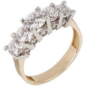Ring 585 Gelbgold Zirkonia von Swarovski