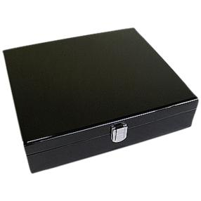 10er Uhrenbox aus Holz, schwarz
