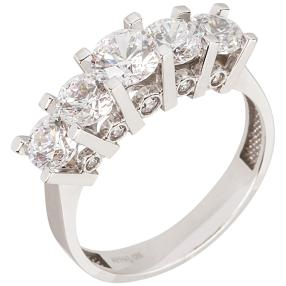 Ring 585 Weißgold Zirkonia Swarovski