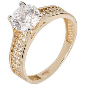 Ring 585 Gelbgold Zirkonia Swarovski