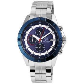 Pierrini Chronograph silber-blau