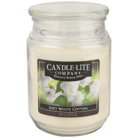 Candle-Lite Duftkerze Soft White Cotton, weiß