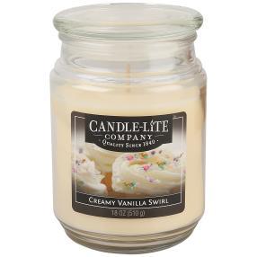 CL Duftkerze Creamy Vanilla Swirl, weiß