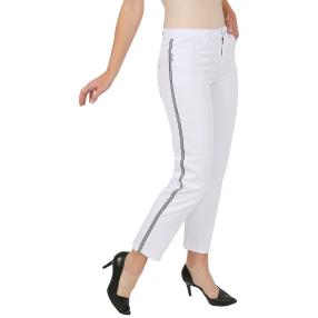 Jet-Line Damen-Jeans 7/8 'Sporty Sailor' white