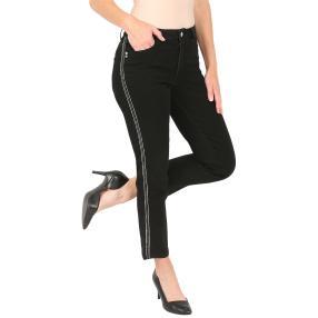 Jet-Line Damen-Jeans 7/8 'Black Delight' black