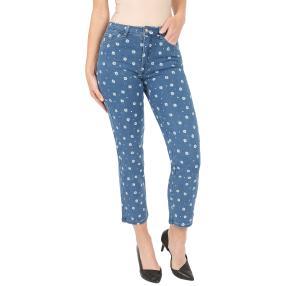 Jet-Line Damen-Jeans 7/8 'Sweet Florets' blue