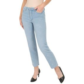 Jet-Line Damen-Jeans 7/8 'Perfect Glam' light blue