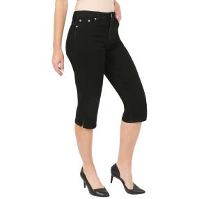 Jet-Line Damen-Caprijeans 'Basic Star' black