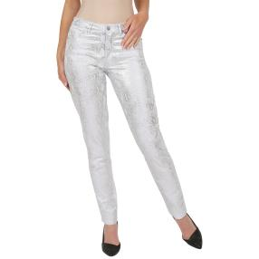 Jet-Line Damen-Jeans 'Trend Design' white/silver