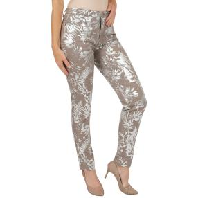 Jet-Line Damen-Jeans 'New Style' light grey/silver