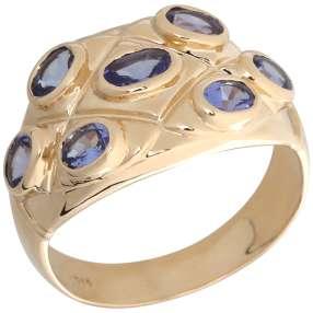 Ring 585 Gelbgold AAATansanit