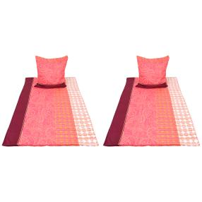 AllSeasons Bettwäsche 4tlg. pink