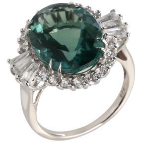 Ring 925 Sterling Silber Flourit, Zirkon