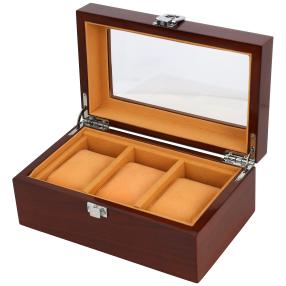 3er Holz Uhrenbox