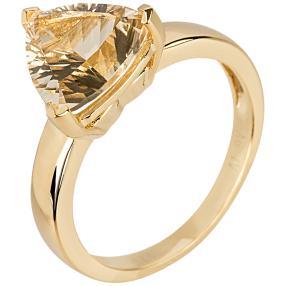 Ring 925 St. Silber vergoldet Champagner Quarz