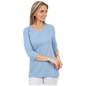 RÖSSLER SELECTION Damen-Shirt uni hellblau