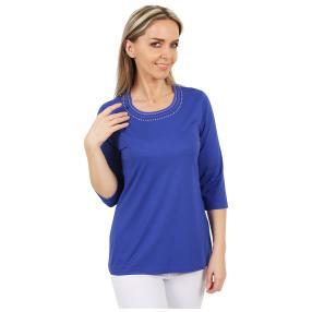 RÖSSLER SELECTION Damen-Shirt uni royalblau
