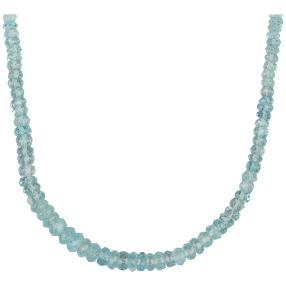 Aquamarincollier 925 Sterling Silber