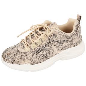 Claudia Ghizzani Damen-Sneaker beige snake