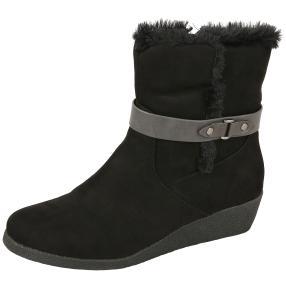 SPROX Damen-Keil-Stiefeletten schwarz Soft Touch