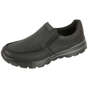 SPROX Herren-Elastik-Slipper schwarz Soft Touch