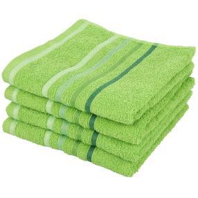 Handtuch 4er-Set grün 50x100cm