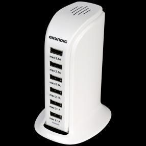 GRUNDIG USB-Netzteil, 6xUSB 6A