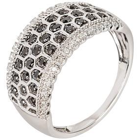 Bandring 585 Weißgold Diamant