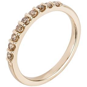 Ring 585 Gelbgold Diamant cognac